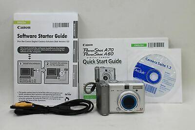 Canon Powershot A70 Silver Digital Camera 3 2 Mp Pc1043 3 X Digital Camera Powershot Canon Powershot