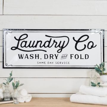 Embossed Metal Laundry Sign Laundry Signs Home Decor Signs Home Decor