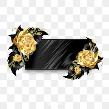 Black Gold Fine To Textured Floral Border Black Gold Texture Frame Png Transparent Clipart Image And Psd File For Free Download Gold Circle Frames Gold Clipart Floral Border