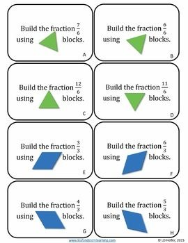 Mixed Numbers And Improper Fractions With Pattern Blocks