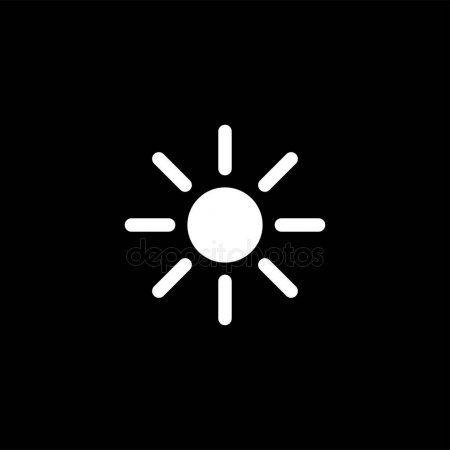 Sun Icon On Black Background Black Flat Style Vector Illustration Stoc Ad Black Background Sun Icon Ad