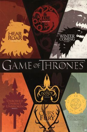 Game Of Thrones House Sigils Television Poster Posters Game Of