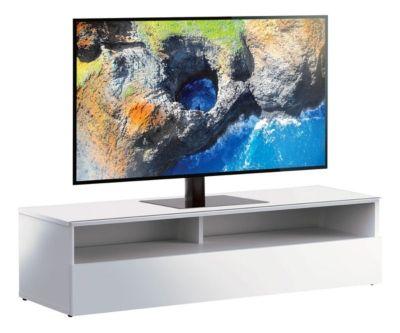 meuble tv l 180 cm riva 2 blanc noir