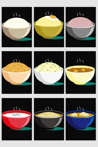 Bowl Sheng Food Vector Png Images Ai Free Download Pikbest Food Illustrations Vector Food Food