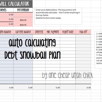 How to Create a Debt Snowball Plan {Snowball Excel Spreadsheet ...