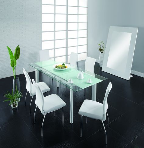 Chemistry Dining Room Set Table 4 White Chairs Creative