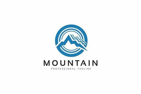 Mountain Circle Logo (1345979) | Logos | Design Bundles