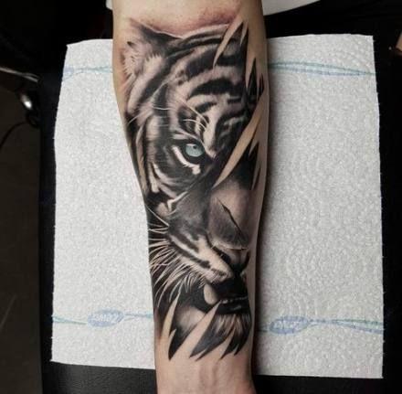 Tattoo Thigh Animal Tigers 56 New Ideas Tiger Tattoo Sleeve Tiger Eyes Tattoo Forearm Tattoos