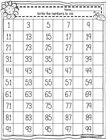 Teaching First Freebie Spring 100s Charts Kindergarten Math Worksheets Preschool Math First Grade Math Worksheets Preschool number worksheets 100