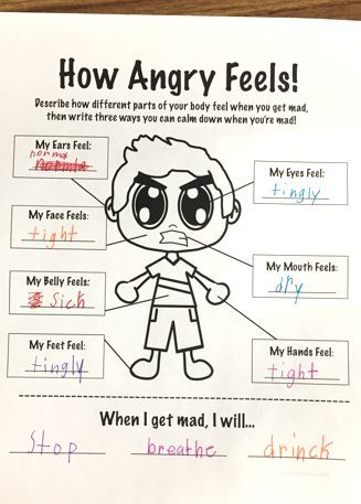 How Anger Feels - Anger Management Worksheet | Worksheets, Students ...