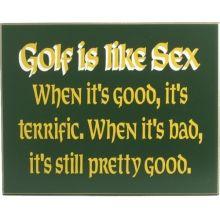 Golf is like sex