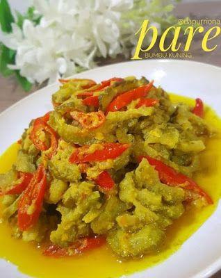 Pare Bumbu Kuning Resep Masakan Resep Masakan Indonesia Makanan Dan Minuman