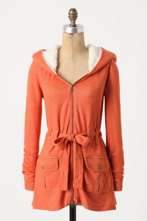 Madero Hoodie. Anthro. $88. Love this coral color too. Also available in black!