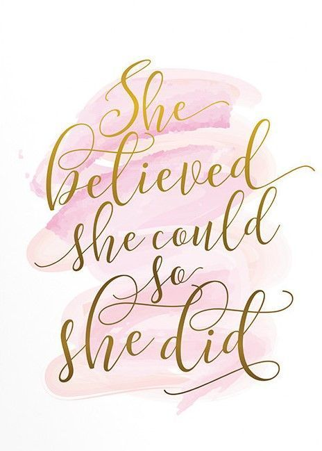 Gift for her, Wall art, Poster art, She believed she could, Inspirational quote, Pink and gold art, Feminine art, Motivational quote #ad #quote #inspirational #inspirationalquotes #motivation