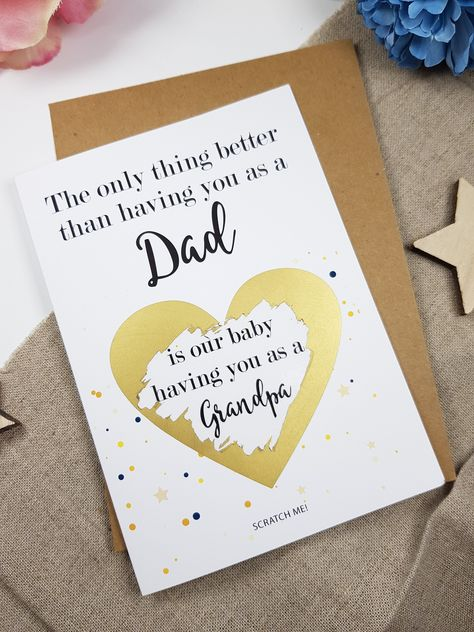 Pregnancy announcement card brother get promoted to uncle reveal scratch PA58