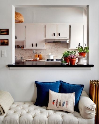 A Section Of Wall Between The Kitchen And Living Room Was Removed To Create  This Pass Through With Serving Bar. | Home | Pinterest | Living Rooms, ...