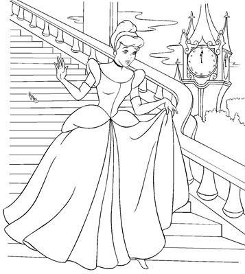 Desenhos Para Colorir De Meninas Princesas Com Imagens Paginas