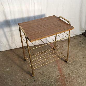 Table Desserte Porte Vinyles Meuble Vintage Vinyle Table