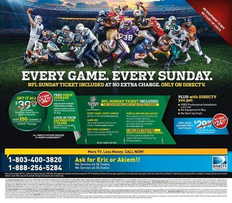 Nfl Sunday Ticket Free Call Now Nfl Sunday Ticket Sunday