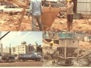كيفية صب الخرسانة في أساسات الخوازيق Poured Concrete Concrete Wood