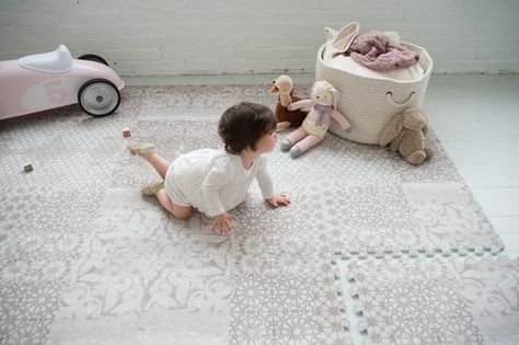 Gorgeous idea for the home - a beautifully designed baby play mat that doubles as an area rug