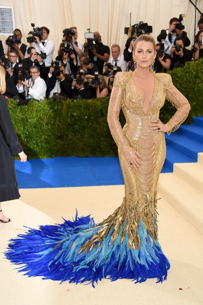 Blake Lively in Atelier Versace at the 2017 Met Gala - The Most Daring Red Carpet Dresses of the Decade - Photos