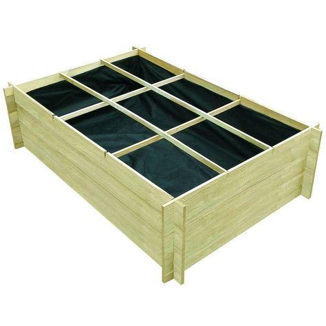 Vidaxl Pflanzkasten 150 X 100 X 40 Cm Impragniertes Holz Hochbeet Pflanzkasten Pflanzkubel