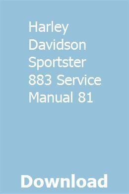 Harley Davidson Sportster 883 Service Manual 81 Pdf Download Full Online Harleydavidso With Images Harley Davidson Sportster 883 Harley Davidson Sportster Harley Davidson