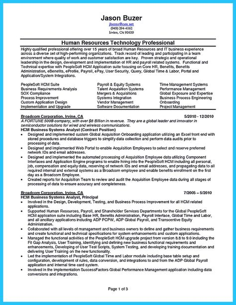 Do you think getting the business analyst job is easy? Getting - peoplesoft business analyst sample resume