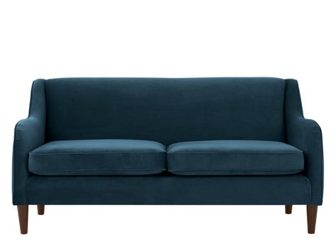 Chesterfield sofa samt  Rosamund 2 Seater Sofa, Ocean Blue Velvet | Solid wood, Blue ...