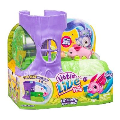 Little Live Pets Lil Fluffy Tree House Playset Blossom Bunny Little Live Pets Cool Toys For Girls Animal Room