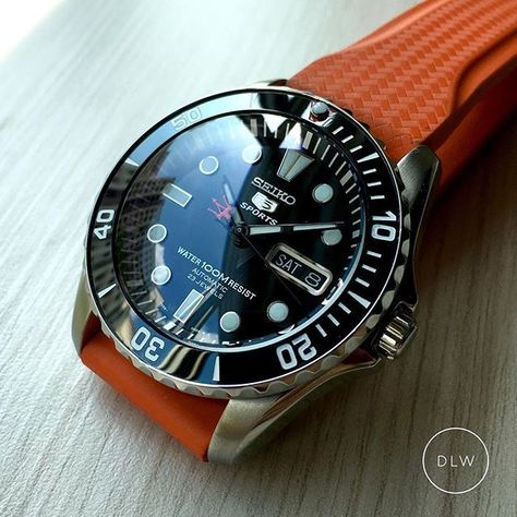 Seiko Urchin SNZF17 Fully Modded • Ceramic Bezel Insert, Sapphire Double Dome Crystal & Trek+Red Tip Trident Hands • Visit DLW web store for mod parts OR private message me to purchase fully modded pieces