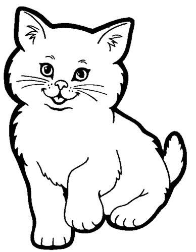 Quatang Gallery- Cat Kat Kattenkunst Dieren Kleurplaten Katten Tekening