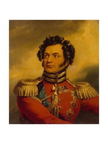 Giclee Print: Portrait of the General Fyodor Petrovich Uvarov (1773-182), before 1825 by George Dawe : 24x18in