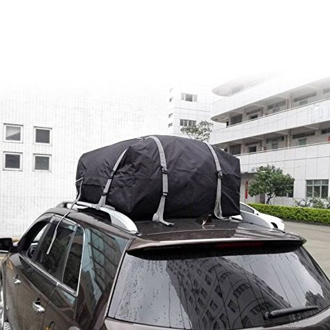 Kkmoon Waterproof Universal Car Roof Top Cargo Bag Carrier Luggage Storage Travel Bag For Suv Van 15 Cubic Feet More Info Co Suv Roof Rack Truck Accessories