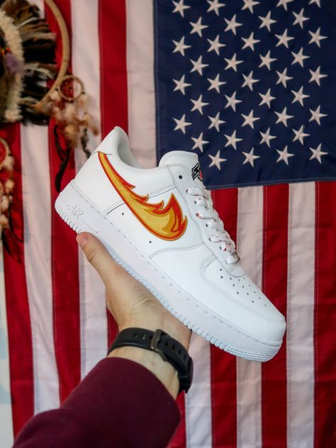 Nike DRAGON BREATH AIR FORCE 1 White Low Custom Size 12