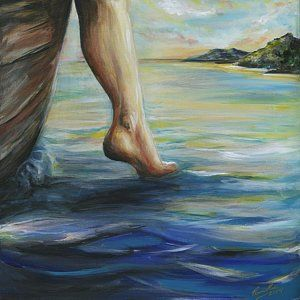 Prophetic Painting - Step Of Faith by Pennie Strople   Prophetic painting, Faith art,  Jesus art