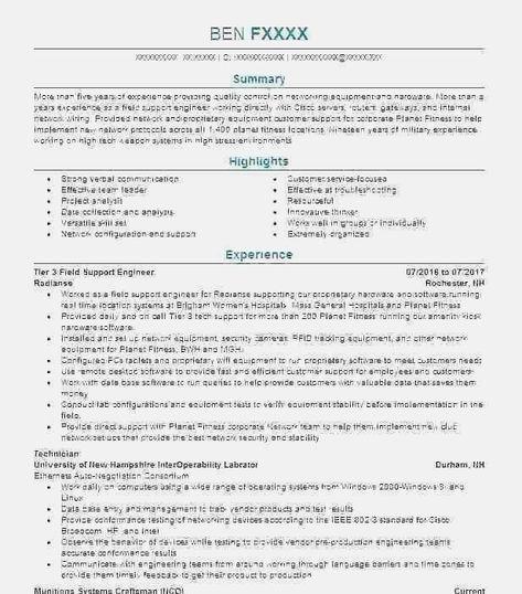 Military Veteran Resume Examples Army To Civilian Resume