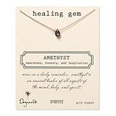"""Dogeared Healing Gems Amethyst Eye Necklace, 16"""""""
