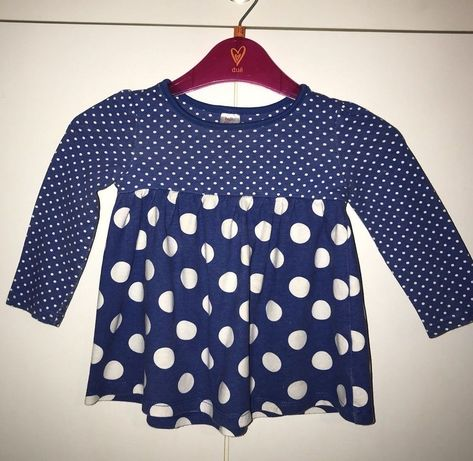 d10bf24e3 Details about New Mini Club Baby Girl Blue Flowered Long Sleeve ...
