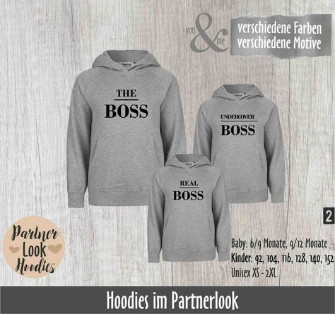 Vater Tochter Partnerlook Hoodie Set Father of A Princess