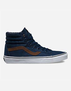 b87155a1d9 VANS Cord Plaid Sk8-Hi Reissue Shoes Blue