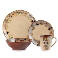 Sango Vineyard 16-Piece Dinnerware Set - Bed Bath & Beyond | Dishes ...