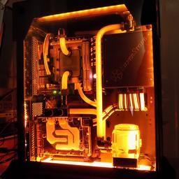 Image Result For Burnt Orange Water Cooled Gaming Computer Desktop