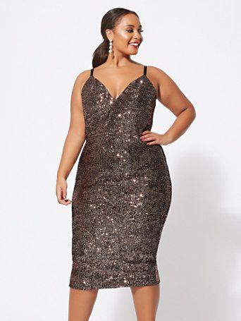 70e16f789b635 Tasha Sequin Knit Tank Dress in 2019 | I'd Wear That | Dresses ...