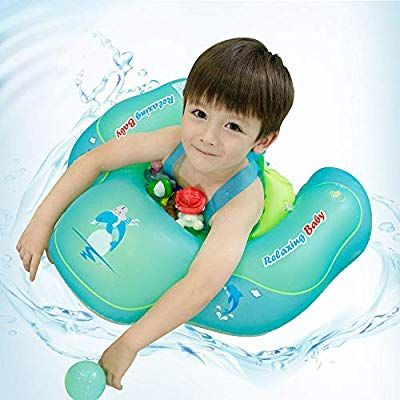Relaxing Baby Swimming Baby Float For Pool Cute Toddler Baby Floaties Seat Inflatable Swimming Boat Ring Accessories For Baby Floaties Baby Swimming Baby Float