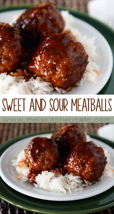 Sweet And Sour Meatballs Baked Mel S Kitchen Cafe Recipe Sweet And Sour Meatballs Recipes Meat Recipes