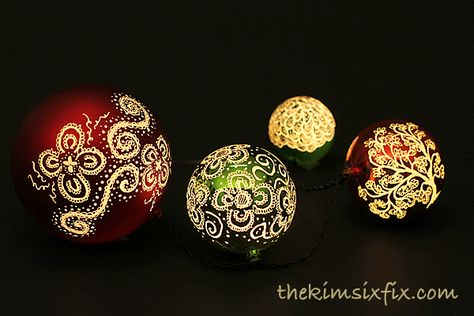 Engraved and Illuminated Plastic Ball Ornaments from the dollar store:: Hometalk