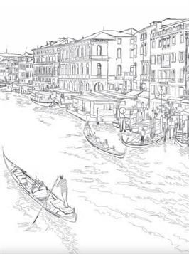 Coloring Page Venice Venice Coloring Pages Secret Garden