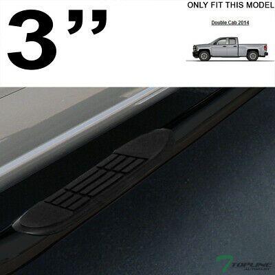 "For 2014-2018 Silverado//Sierra Reg Cab 3/"" Blk Side Step Nerf Bars Running Boards"